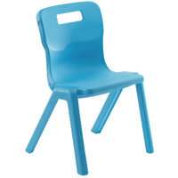 Titan One Piece School Chair Size 4 380mm Sky Blue Pack of 30