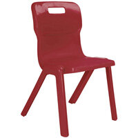 Titan One Piece School Chair Size 5 430mm Burgundy Pack of 30