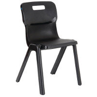 Titan One Piece School Chair Size 6 460mm Black Pack of 30