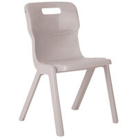 Titan One Piece School Chair Size 6 460mm Grey Pack of 30