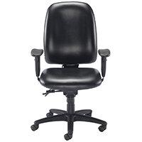Avior Snowden Heavy Duty Office Chair Black PU KF79229 - Weight Tolerance 150kg
