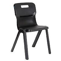 Titan One Piece School Chair Size 3 350mm Charcoal Pack of 10