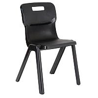Titan One Piece School Chair Size 5 430mm Charcoal Pack of 30