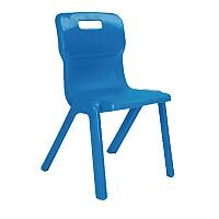 Titan One Piece School Chair Size 6 460mm Blue Pack of 30
