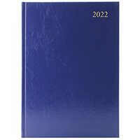 Desk Diary Day Per Page Appointments A4 Blue 2022 KFA41ABU22