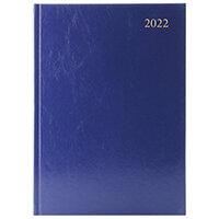 Desk Diary Day Per Page A4 Blue 2022 KFA41BU22