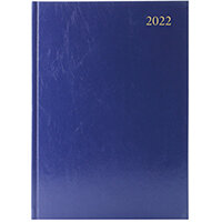Desk Diary Week To View A4 Blue 2022 KFA43BU22