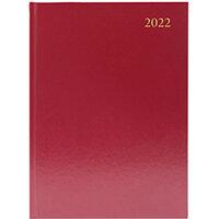 Desk Diary Week To View A5 Burgundy 2022 KFA53BG22
