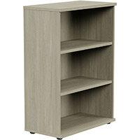Medium Bookcase 1130mm High With Adjustable Shelves & Floor Leveller Feet Arctic Oak Kito