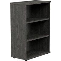 Medium Bookcase 1130mm High With Adjustable Shelves & Floor Leveller Feet Carbon Walnut Kito