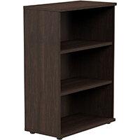 Medium Bookcase 1130mm High With Adjustable Shelves & Floor Leveller Feet Dark Walnut Kito