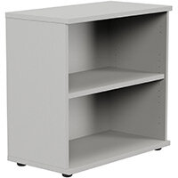 Kito Low Bookcase With Adjustable Shelves & Floor-leveller Feet W800xD420xH770mm Grey