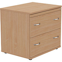 2 Drawer Side Filer Cabinet Beech  - Universal Storage Can Be Used Alone Or Accompany The Switch, Komo or Ashford Ranges