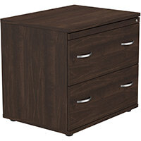 2 Drawer Side Filer Cabinet Dark Walnut  - Universal Storage Can Be Used Alone Or Accompany The Switch, Komo or Ashford Ranges