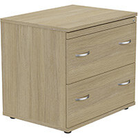 2 Drawer Side Filer Cabinet Urban Oak  - Universal Storage Can Be Used Alone Or Accompany The Switch, Komo or Ashford Ranges