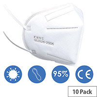 KN95 FFP2 Filter Respirator Face Mask Pack of 10