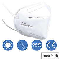 KN95 FFP2 Filter Respirator Face Mask Pack of 1000