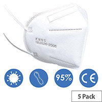 KN95 FFP2 Filter Respirator Face Mask Pack of 5