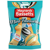 Maynards Bassetts Mint Favourites 192g Pack of 12 4021645