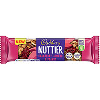 Cadbury Nuttier Cranberry/Almond Chocolate 40g Pack of 15 4260511