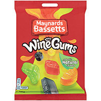Maynards Bassets Wine Gums Share Bags 165g Pack of 12 4011446