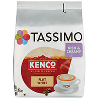 Tassimo Kenco Flat White Pods Pack of 8 4051498