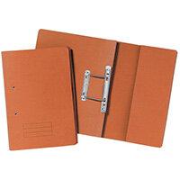 Pocket Spiral Files 285gsm Foolscap Orange Pack of 25 TPFM-ORGZ