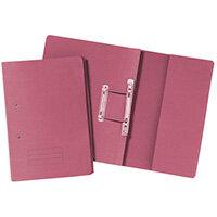 Pocket Spiral Files 285gsm Foolscap Pink Pack of 25 TPFM-PNKZ