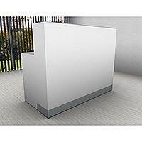 Organic Modern White Straight Reception Desk W1400mmxD660mmxH1105mm