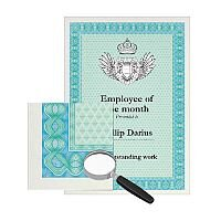 DECAdry A4 Turquoise/Blue Bordered Certificate Paper 115gsm Pack of 70