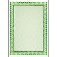 DECAdry A4 Emerald Green Bordered Certificate Paper 115gsm Pack 25