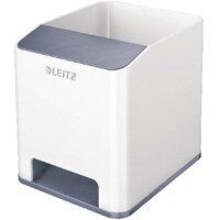 Leitz WOW Sound Booster Pen Holder White/Grey 53631001