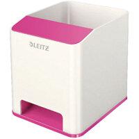 Leitz WOW Sound Booster Pen Holder White/Pink 53631023