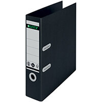 Leitz LAF180 Recycled 80mm A4 Black Pack of 10 10180095