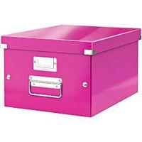Leitz Click Store Medium Storage Box Pink 60440023