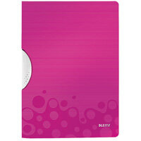 Leitz WOW A4 ColorClip Polypropylene File Pink Metallic Pack of 10 41850023