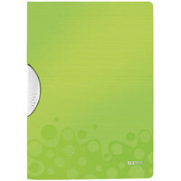 Leitz WOW A4 ColorClip Polypropylene File Green Metallic Pack of 10 41850064