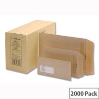 New Guardian Pocket Envelopes 98x67mm 80gsm Manilla Gummed Pack of 2000
