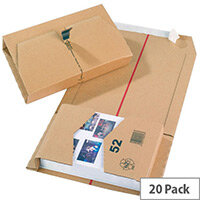 Smartbox Mailing Boxes 270x192x80mm Brown Pack of 20