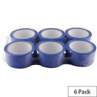 Ambassador Blue Polypropylene Tape 50mm x 66m Packing Tape (6 Pack)