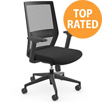 Mesh Me Posture Office Chair with Mesh Back Adjustable Lumbar Support Black