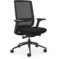 X.55 Posture Office Chair with Mesh Back & Adjustable Lumbar Support Black