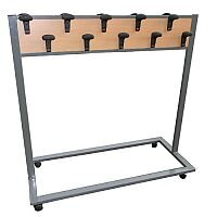 Mobile Coat Trolley with 20 Double Safety Hooks #ST