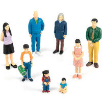 Family Block Figures Small World - Asian Family Ref:MD27397