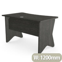 Home Office Medici Desk W1200xD700mm 25mm Desktop & Legs Carbon Walnut