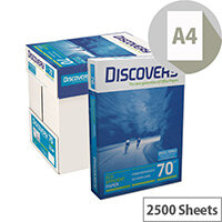 Discovery Everyday A4 70gsm White Printer Paper Box of 2500 Sheets