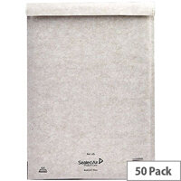 Mail Lite Plus Bubble Lined Size J/6 300x440mm Oyster White Postal Bags Pack of 50