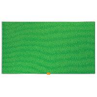 Nobo Widescreen Felt Noticeboard 890x500mm Green 1905315