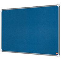 Nobo Premium Plus Felt Notice Board 600 x 450mm Blue 1915187