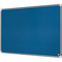 Nobo Premium Plus Felt Notice Board 2400 x 1200mm Blue 1915193